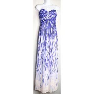 Calvin Klein white blue sweetheart strapless 12